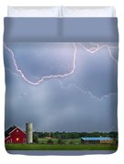 Farm Storm Hdr Duvet Cover by James BO  Insogna