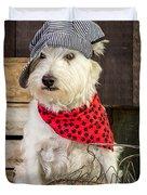 Farmer Dog Duvet Cover by Edward Fielding