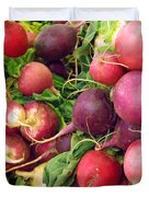 Farmers' Market Radishes Duvet Cover by Jean Hall