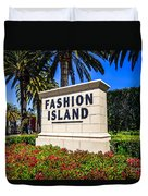 Fashion Island Sign In Newport Beach California Duvet Cover by Paul Velgos