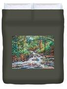 Fast Water Wildwood Park Duvet Cover by Kendall Kessler