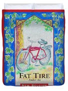 Fat Tire Duvet Cover by Cheryl Young