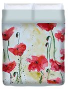 Feel The Summer 1 - Poppies Duvet Cover by Ismeta Gruenwald