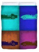 Ferrari Testa Rossa Pop Art 1 Duvet Cover by Naxart Studio