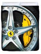 Ferrari Wheel 3 Duvet Cover by Jill Reger