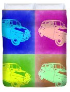 Fiat 500 Pop Art 2 Duvet Cover by Naxart Studio
