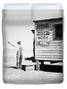 Field Office Of The Wpa Government Agency Duvet Cover by American Photographer