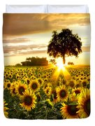 Fields Of Gold Duvet Cover by Debra and Dave Vanderlaan
