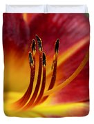 Fiery Lily Duvet Cover by Rona Black
