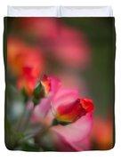 Fiery Roses Duvet Cover by Mike Reid