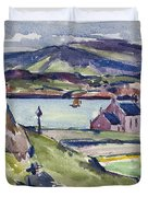 Figure And Kirk   Iona Duvet Cover by Francis Campbell Boileau Cadell
