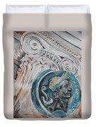 Financial Cliff Duvet Cover by PainterArtist FIN