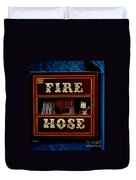 Fire Hose Duvet Cover by Cheryl Young