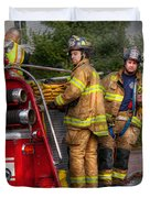Firefighting - Only You Can Prevent Fires Duvet Cover by Mike Savad