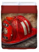 Fireman - Hat - A childhood dream Duvet Cover by Mike Savad