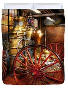 Fireman - One day a long time ago  Duvet Cover by Mike Savad