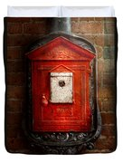 Fireman - The Fire Box Duvet Cover by Mike Savad