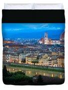 Firenze By Night Duvet Cover by Inge Johnsson