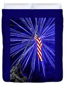 Fireworks At Iwo Jima Memorial Duvet Cover by Francesa Miller