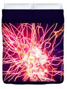 Fireworks At Night 6 Duvet Cover by Lanjee Chee