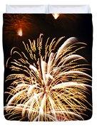 Fireworks Duvet Cover by Elena Elisseeva