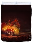 Fireworks Finale Duvet Cover by Robert Bales