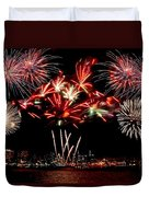 Fireworks Over The Delaware Duvet Cover by Nick Zelinsky