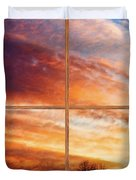 First Dawn Barn Wood Picture Window Frame View Duvet Cover by James BO  Insogna