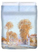 First Frost Duvet Cover by Alfred Sisley