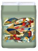 Fish 1 Duvet Cover by Danielle Nelisse