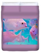 Fish Frenzy Duvet Cover by Carey Chen