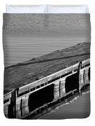 Fishing Dock Duvet Cover by Frozen in Time Fine Art Photography