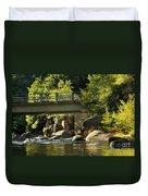 Fishing In Deer Creek Duvet Cover by James Eddy