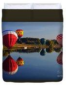 Five Aloft Duvet Cover by Mike  Dawson