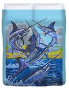 Five Billfish Off00136 Duvet Cover by Carey Chen