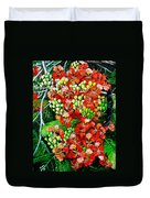 Flamboyant In Bloom Duvet Cover by Karin  Dawn Kelshall- Best