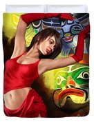Flamenco Dancer 010 Duvet Cover by Catf