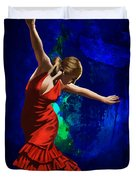 Flamenco Dancer 014 Duvet Cover by Catf