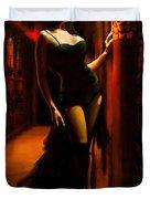 Flamenco Dancer 015 Duvet Cover by Catf