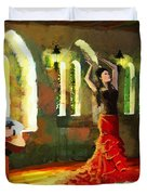 Flamenco Dancer 017 Duvet Cover by Catf