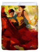 Flamenco Dancer 019 Duvet Cover by Catf