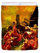 Flamenco Dancer 020 Duvet Cover by Catf