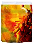 Flamenco Dancer 026 Duvet Cover by Catf