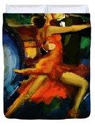 Flamenco Dancer 029 Duvet Cover by Catf