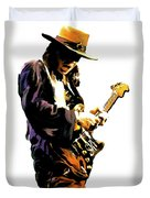 Flash Point     Stevie Ray Vaughan Duvet Cover by Iconic Images Art Gallery David Pucciarelli