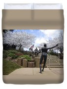 Fleeting Spring At The Arena Duvet Cover by Daniel Hagerman