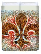 Fleur De Lis Gold Dust Duvet Cover by Janine Riley