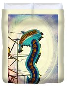 Flippers Facination - Wildwood Boardwalk Duvet Cover by Bill Cannon