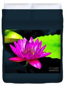 Floating Purple Water Lily Duvet Cover by Nick Zelinsky