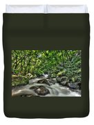 Flooded Small Stream  Duvet Cover by Dan Friend